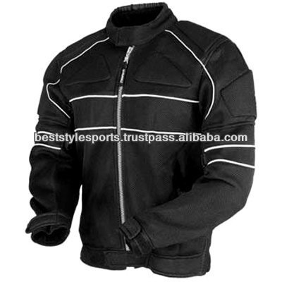 Motorcycle textile armor jacket