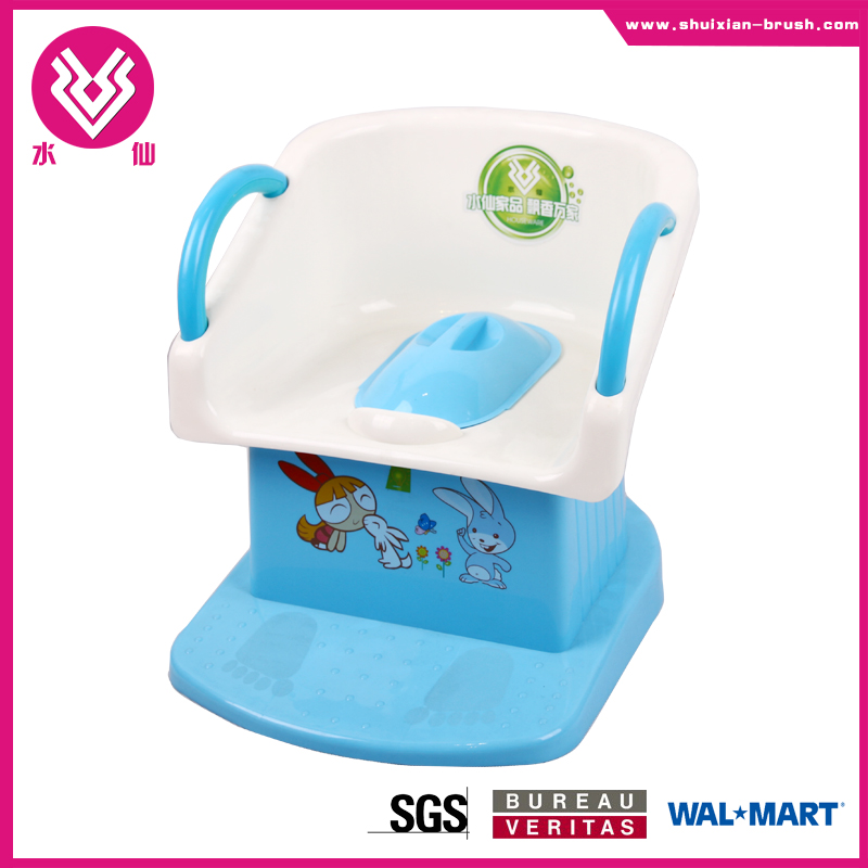 square shaped chair style preschool plastic baby potty BN7203