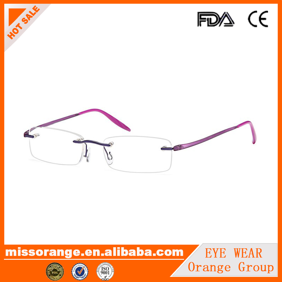 Rimless Fashion beautiful colourful memory frame reading glasses