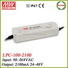 Meanwell LPC-100-2100 100w constant current led driver 2100ma