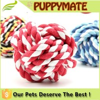 Customized good qulaity dog rope ball toy, toys for pet