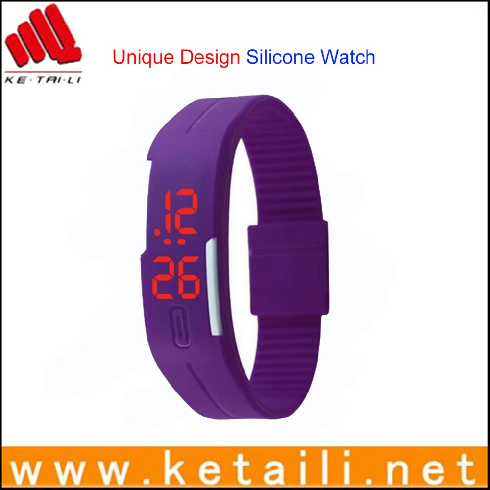 Cheap promotional gifts silicone led watch wristwatch