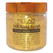 Melao 250g 24K Natural Gold Body Scrub and Facial Scrub with Dead Sea Salt- Ancient Anti Aging Body and Face Scrub