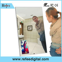 Hot selling HD magic mirror with moton senser function support video/ photo auto enlarge or shrink