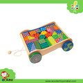 PY1217,colorful educational block cart from Eagle Creation Toys