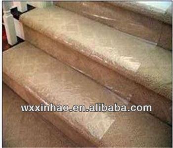 High stick self adhesive plastic film for carpet