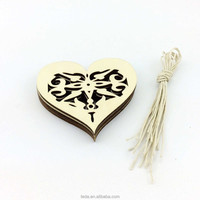 Heart design laser cut wooden decoration supplier Christmas tree ornament/wooden christmas hanger