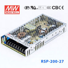 RSP-200-27 PFC 1U LOW High performance Efficiency 7.5A 27V AC-DC SINGLE MEANWELL SWITCHING POWER SUPPLY