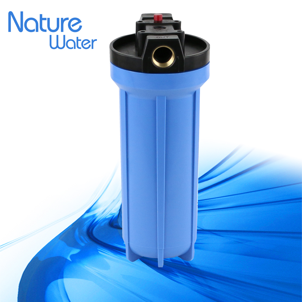 "10"" plastic slime blue water filter housing"