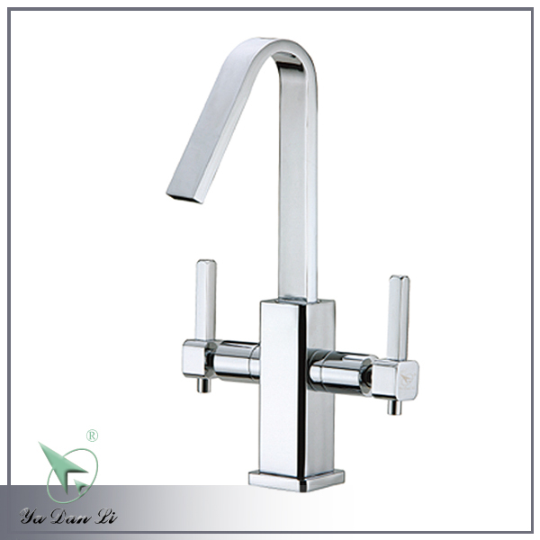 Hot sale high quality double lever chrome plating basin faucet 6209