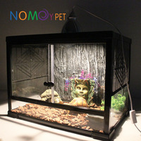 Nomo high-class clear glass breeding cage tank for reptiles and small animals 40*30*25cm