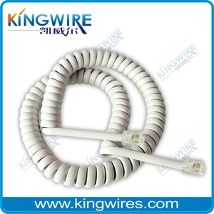 Good quality best price rj11 spiral telephone cable