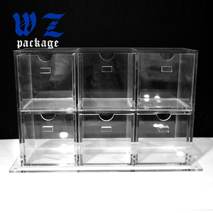 Customized Clear Acrylic Makeup Box Display With Drawer