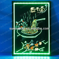 2013 Newest !High Quality Acrylic Led Writing Board