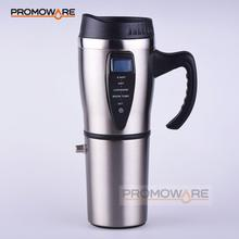 Stainless Steel 12V Car Travel Mug with LCD Display