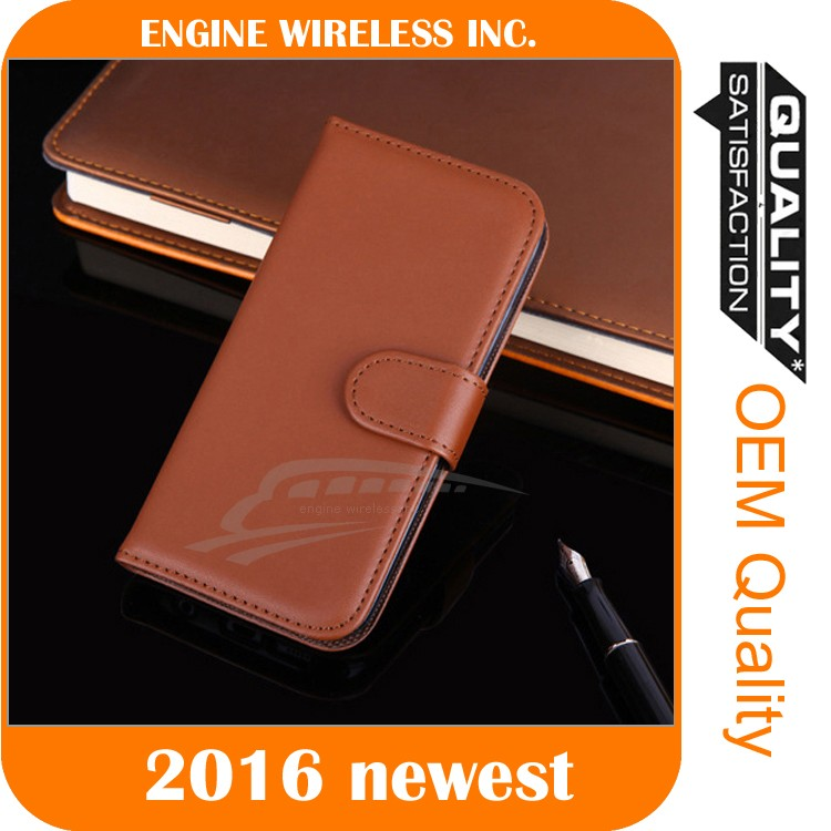 Leather Smart Case Stand Magnetic Cover for iphone 6 custom case