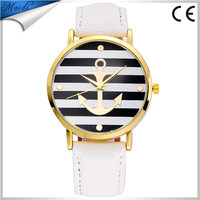 2016 Retro Stripes Ladies Watch Women High Quality Anchors Watches Dress Ladies Analog Quartz Watch LW017