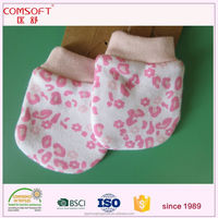 customized new born infant baby protective glove cotton mittens