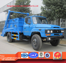 7000L Dongfeng swing arm garbage truck, skip loader garbage truck, refuse collection vehicle bin