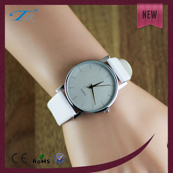 fashion alloy wrist watches popular in Asia and Europe leather strap