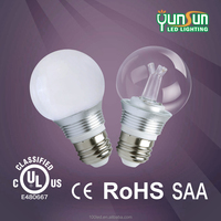 CE/RoHs listed new product indoor glass lighting 5W G55 lamp LED bulb/5w led bulb e27