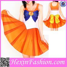 Orange Sailor Moon Costume Cosplay For Halloween