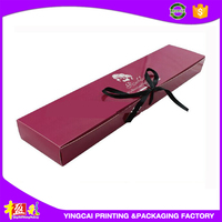 Cheap folding type good quality ribbon decoration hair extension gift packaging box