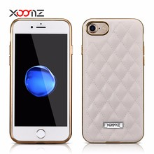 XOOMZ 2017 Fashion PU Leather Back Cover Case for iPhone 7 7 Plus