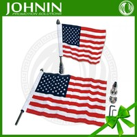hot sales metal pole double sides printing high quality factory sales american motor car flag