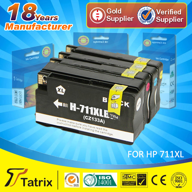 Compatible ink cartridges for HP 711XL , TOP 3 supplier in China