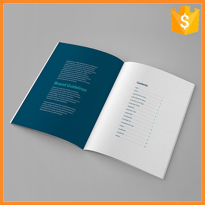 Eco-friendly Custom Paper Offset Catalog Print For Factory Handbook