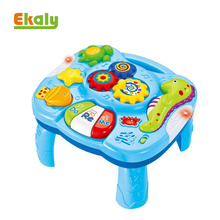 Intelligent kids educational musical ocean animal multifunction learning table toys