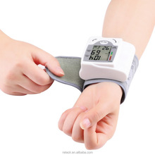 hot sale mini electric blood pressure monitor wrist with lCD display