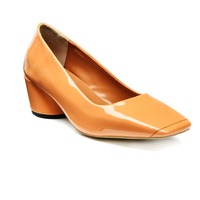 H1665 Newest Orange China Mid Heel
