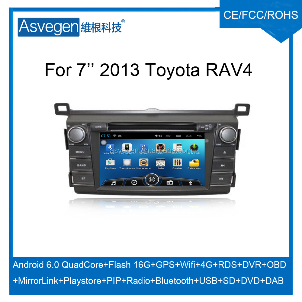 Wholesale Android Car DVD Player for 7'' Toyota RAV4 2013 Navigation Car DVD GPS Support Playstore,4G,WIFI