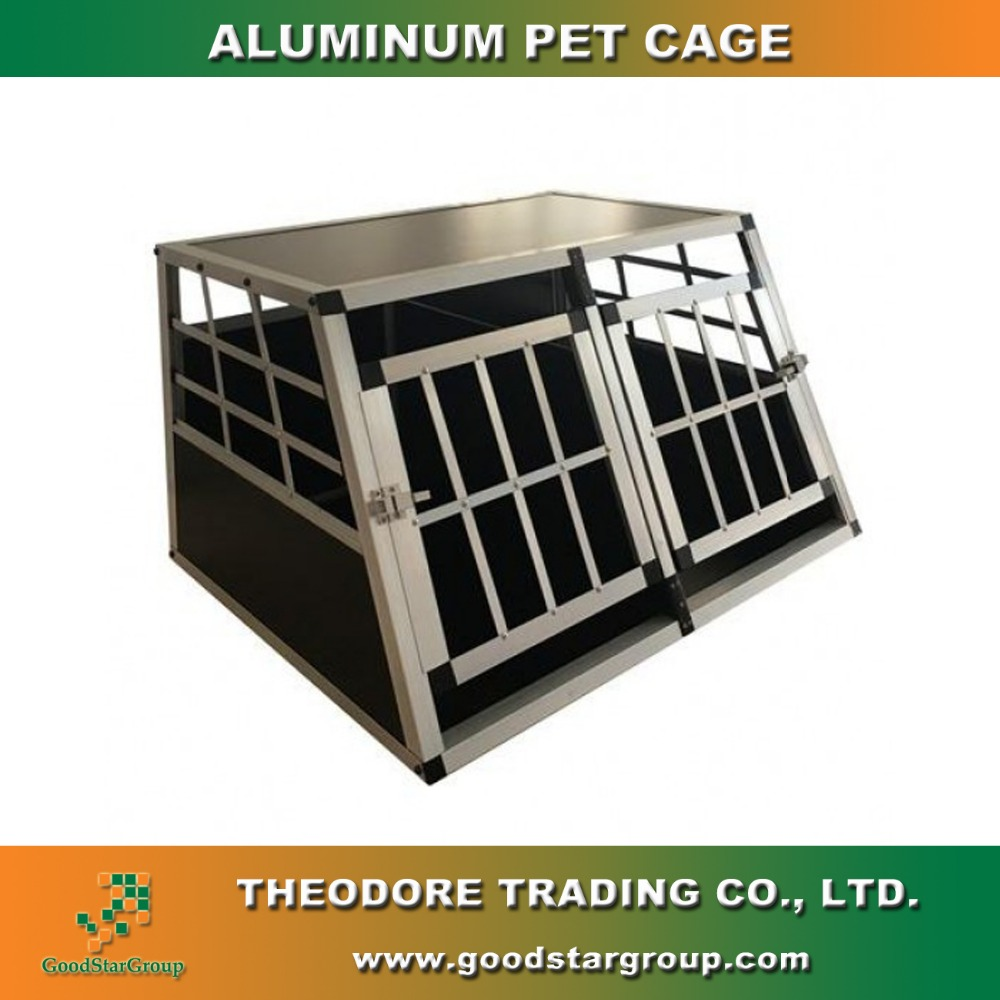 Small Dog Pet Cat Crate Cage Kennel Metal Folding Door Tray Travel Portable New style
