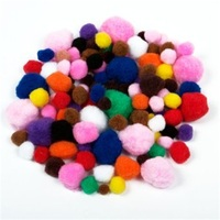 toys educational pom pon / chenille yarn / googly eye