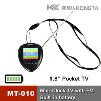 Fashion design handheld fm radio, tv, watch functions all ine one low cost mini lcd tv