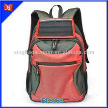 2014 good quality ultrathin and soft high capacity solar laptop backpack, solar backpack for laptop charger