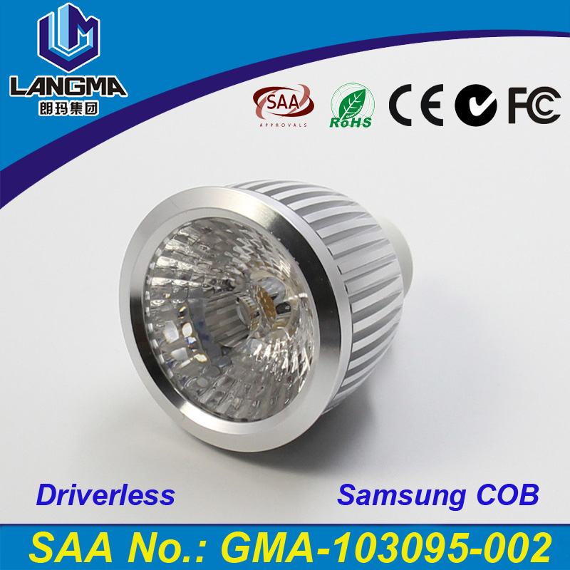 Langma New-Tech 6W Non-<strong>Driver</strong> LED Dimmable Spotlight Samsung AC COB Driverless Bombillas GU10 LED Spot Light Home Lamp