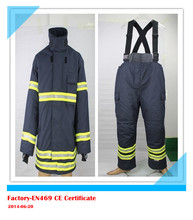 Fire Fighting suit/CE EN469 certified firefighter clothing/ fireman rescue workwear