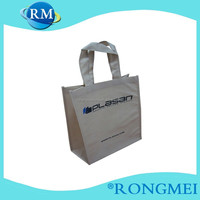 Customized blue color foldable non-woven wine bags