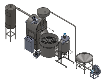 60 kg Factory use coffee roaster / coffee process equipment /60 kg commercial coffee roasting