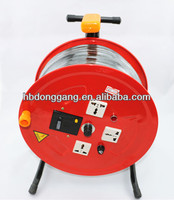 retractable cable reel LBD mobile cable spool with triangular bracket cable reel