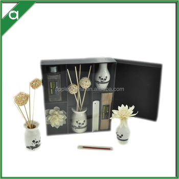 sola flower diffuser gift set/100ml reed diffuser oil in glass bottle with rubber stopper/cardboard box