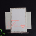 Single Cheap White Elegant Wedding Card With Embossing