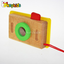 2016 wholesale wooden camera toy , hot wooden camera toy, new design wooden camera toy W01A075