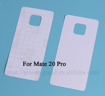 Vinyl Carbon fiber Back protective skin sticker film for Huawei Mate 20 Pro