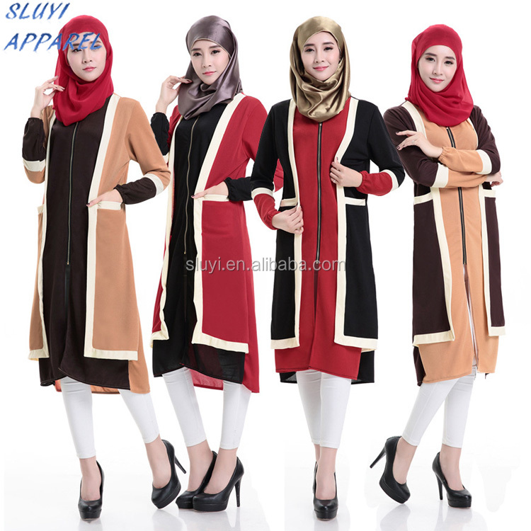 China manufacturing abaya dress wholesale front open turkish ladies tunic wholesale abaya of jeddah