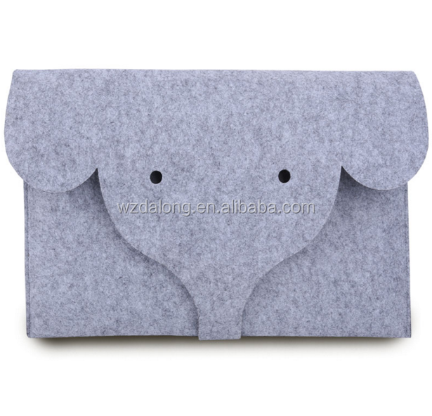 Custom Design Slim Eco-friendly Felt Sleeve Carrying Bag Ultrabook Laptop Bag for Apple Macbook Pro